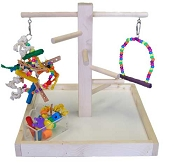 Zoo-Max Wood Play Stand Small