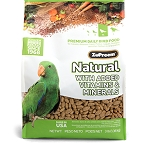 Zupreem Natural Medium Parrot 3lb, 20lb