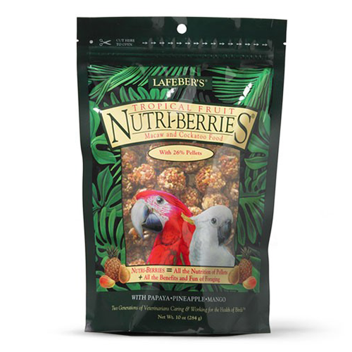 Nutriberries Tropical Fruit Macaw & Cockatoo 10oz