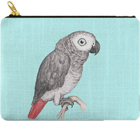 African Grey Carry All Pouch: PRE-ORDER