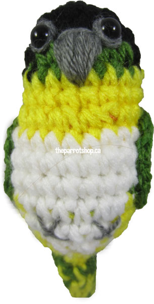 Handcrafted Parrot Keychain - Caique (Black Headed) -  PRE-ORDER