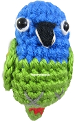 Handcrafted Parrot Keychain - Pionus (Blue Headed)