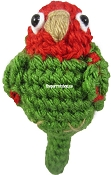 Handcrafted Parrot Keychain - Conure (Cherry Headed)