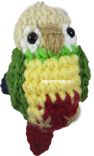 Handcrafted Parrot Keychain - Conure (Cinnamon/Pineapple) - PRE-ORDER