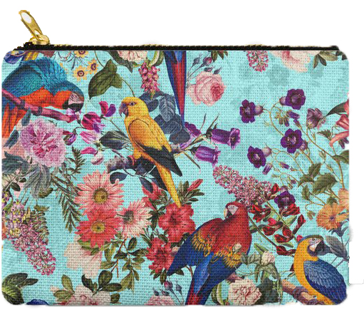 Floral Birds Carry All Pouch: PRE-ORDER