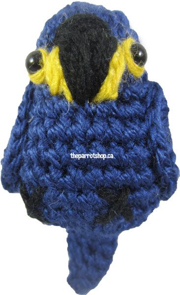 Handcrafted Parrot Keychain - Macaw (Hyacinth)