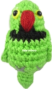 Handcrafted Parrot Keychain - Indian Ringneck (Green)