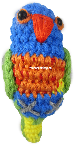 Handcrafted Parrot Keychain - Lorikeet