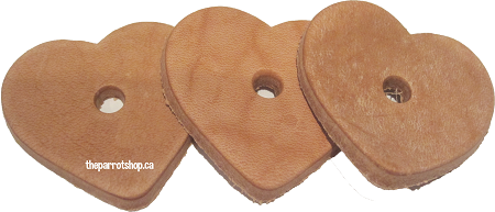 Small Leather Hearts 5pk