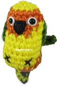 Handcrafted Parrot Keychain - Conure (Jenday)