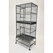 Economy Double Stacked Flight Cage 32