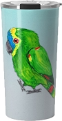 Blue Fronted Amazon Travel Mug 20oz: PRE-ORDER
