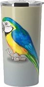 Blue and Gold Macaw Travel Mug 20oz: PRE-ORDER