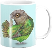 Brown Headed Parrot Coffee Mug 11oz: PRE-ORDER