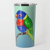 Rainbow Lory Travel Mug 20oz: PRE-ORDER
