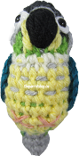 Handcrafted Parrot Keychain - Conure ( Turquoise Yellow Sided Conure)