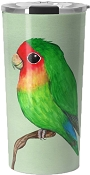 Peace-faced Lovebird Travel Mug 20oz: PRE-ORDER