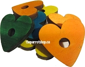 Colourful Pine Hearts 25pk
