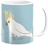 Sulphur Crested Cockatoo Coffee Mug 11oz: PRE-ORDER