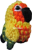 Handcrafted Parrot Keychain - Conure (Sun)