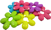 Thick Flower Beads 10pk
