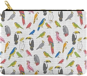 Tropical Birds Carry All Pouch: PRE-ORDER