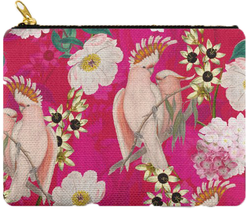 Vintage Cockatoo Carry All Pouch: PRE-ORDER