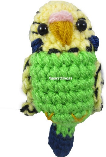 Handcrafted Parrot Keychain - Budgie (Green) - Made to Order