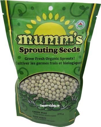Mumm's Sprouting Seeds - Organic Green Peas 275g