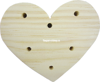 "5"" Pine Heart Toy Base"