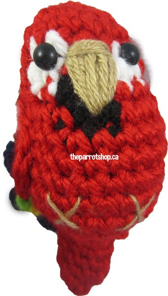 Handcrafted Parrot Keychain - Macaw (Scarlett)
