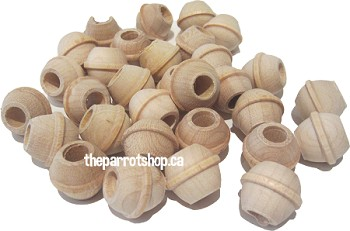 5/8 Natural Wood Bobin Beads 25pk